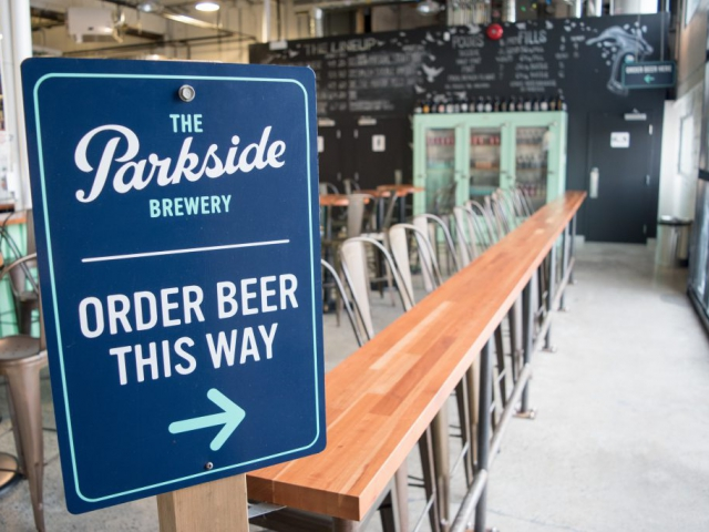 Parkside brewery tasting room