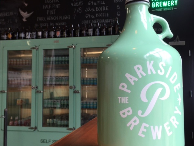 Parkside brewery growler