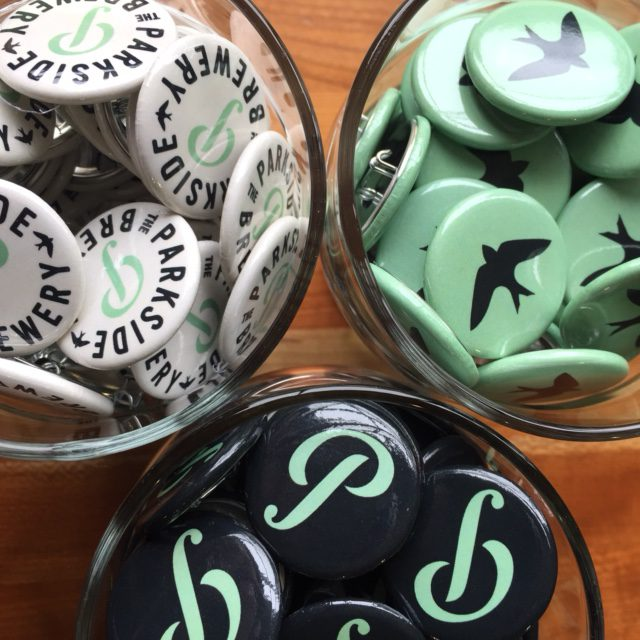 Parkside brewery buttons